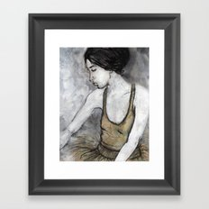 Ballerina for print Framed Art Print