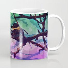 African Bird and Branches Teal And Pink Coffee Mug