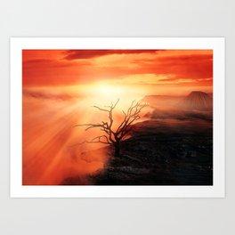 Dead Tree At The Edge Art Print