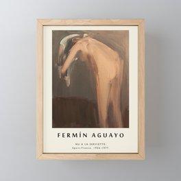 Poster-Fermin Aguayo-Nu a La Serviette. Framed Mini Art Print
