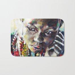 Reverie - Ethnic African portrait Bath Mat