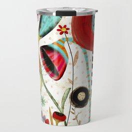 Vintage Rustic Wonderland Flowers Travel Mug