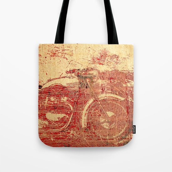 Triumph - Vintage Motorcycle Tote Bag