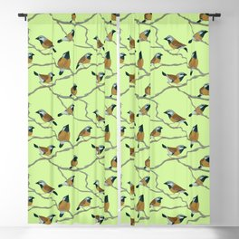 Black-Throated Finches Blackout Curtain