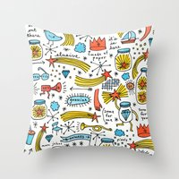 chasing stars and putting them in jars Throw Pillow