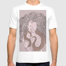 Snake and Sprite: Pink Mens Fitted Tee White SMALL