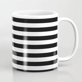 Black and White Offset Stripes Coffee Mug