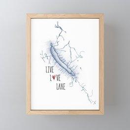 Otisco Live Love Lake Framed Mini Art Print