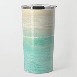 Beach wave photograph. Surge Travel Mug