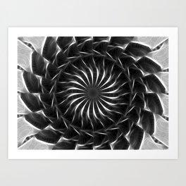 Gray Kaleidoscope Art 12 Art Print