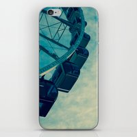 ferris wheel iPhone & iPod Skins featuring Ferris Wheel by Tracy Wong