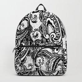 paisley batik black Backpack