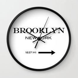 Brooklyn - New York Wall Clock