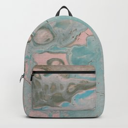 Dirty Acrylic Pour Painting 18, Fluid Art Reproduction Abstract Artwork Backpack