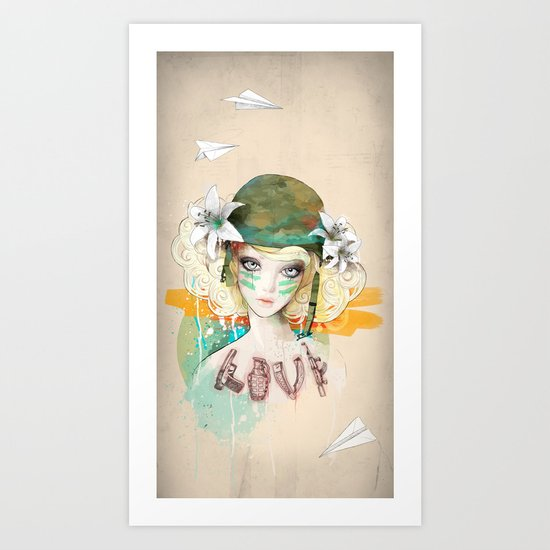 War girl Art Print