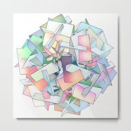 Intersection of Form and Color Metal Print