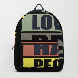 Hate People Backpack