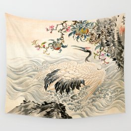 Flowers and Birds Wall Tapestry