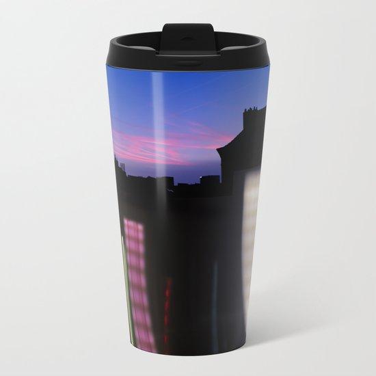 Urban City Lights Metal Travel Mug