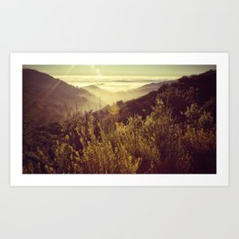 Botcher's Gap, Big Sur, CA Art Print