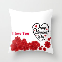 Valentines Day Special | Happy Valentines Day Throw Pillow