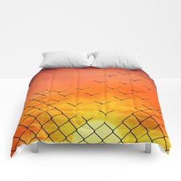sunset escape Comforters