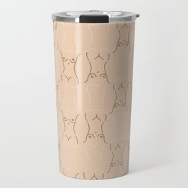 Nude, nudes line drawing/ pattern of female body Travel Mug