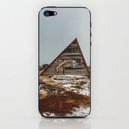 Icelandic Asymmetrical A-Frame Cabin iPhone Skin