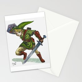 Link in watercolor Stationery Cards