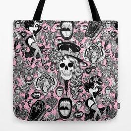 Pink Halloween Tote Bag