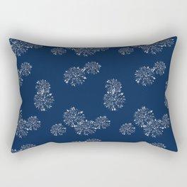 Shibori Scatter - Blue Rectangular Pillow