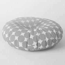 White Circles Floor Pillow