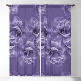 Ultra Violet Peony Flower Bouquet #1 #floral #decor #art #society6 Blackout Curtain