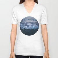 waves V-neck T-shirts featuring Waves by Leah Flores