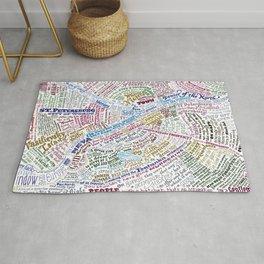 St. Petersburg Literary Map Rug