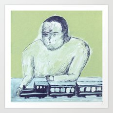 train keeper Art Print