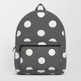 Grey Pastel Polka Dots Backpack