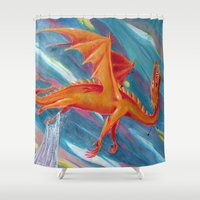 pain Shower Curtains featuring PAIN by STELZ (Vlad Shtelts)