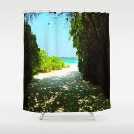 Maldives -  Beach Path Shower Curtain