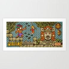Legends of the Hidden Temple - Olmec Coming! Art Print