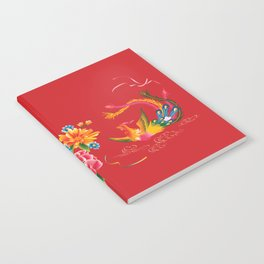chinese peonies and phoenix Notebook