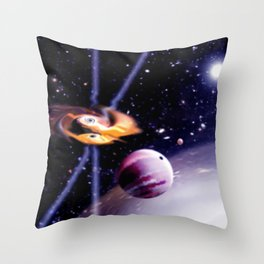 Combined gravity. Throw Pillow