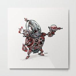 Space Alien Metal Print