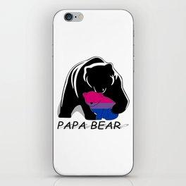 Papa Bear Bisexual iPhone Skin