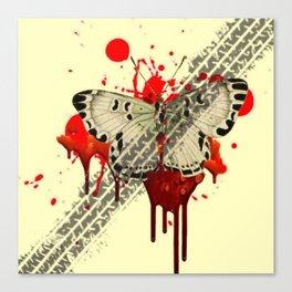 SURREAL BLEEDING VAMPIRE BUTTERFLY ROADKILL Canvas Print