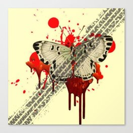SURREAL BLEEDING VAMPIRE BUTTERFLY ROADKILL Canvas Print