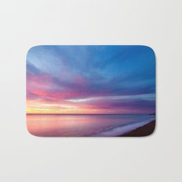 Pink Cotton Candy Sunset Bath Mat