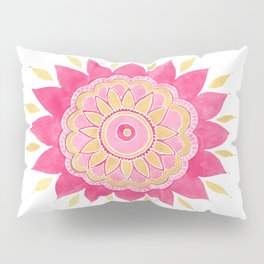 Pink And Gold Mandala Pillow Sham