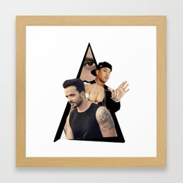 Youtriangle ∆ despacito Framed Art Print
