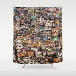 Winter Cityscape of Shimla, India by Jeanpaul Ferro Shower Curtain